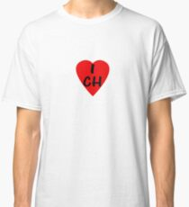 I Love Switzerland - Country Code CH T-Shirt & Sticker Classic T-Shirt