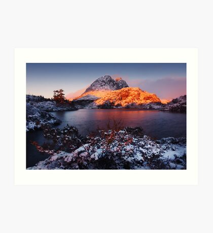 Little Horn in Autumn Snow Twisted Lakes Art Print