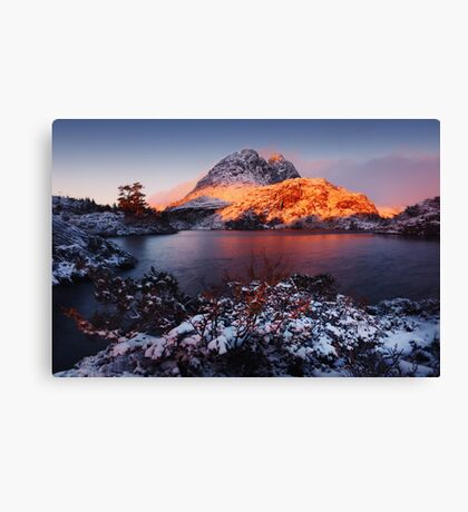 Little Horn in Autumn Snow Twisted Lakes Canvas Print