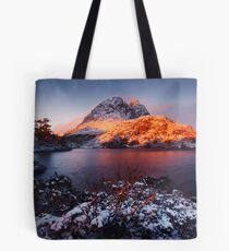 Little Horn in Autumn Snow Twisted Lakes Tote Bag