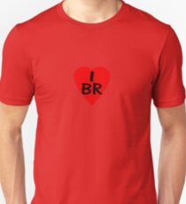 I Love Brazil - Country Code BR T-Shirt & Sticker Unisex T-Shirt