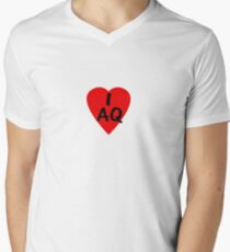 I Love Antartica - Country Code AQ T-Shirt & Sticker Men's V-Neck T-Shirt