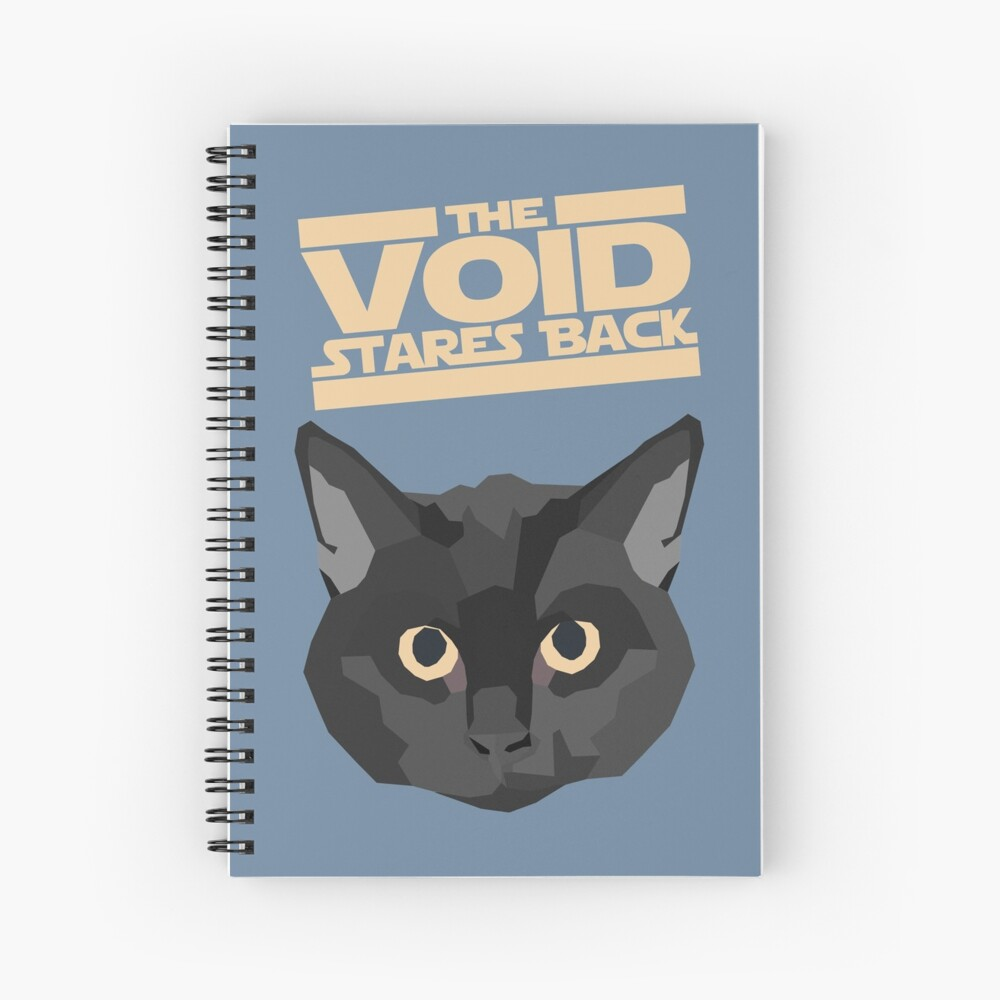 Black Cat - The Void Stares Back Spiral Notebook