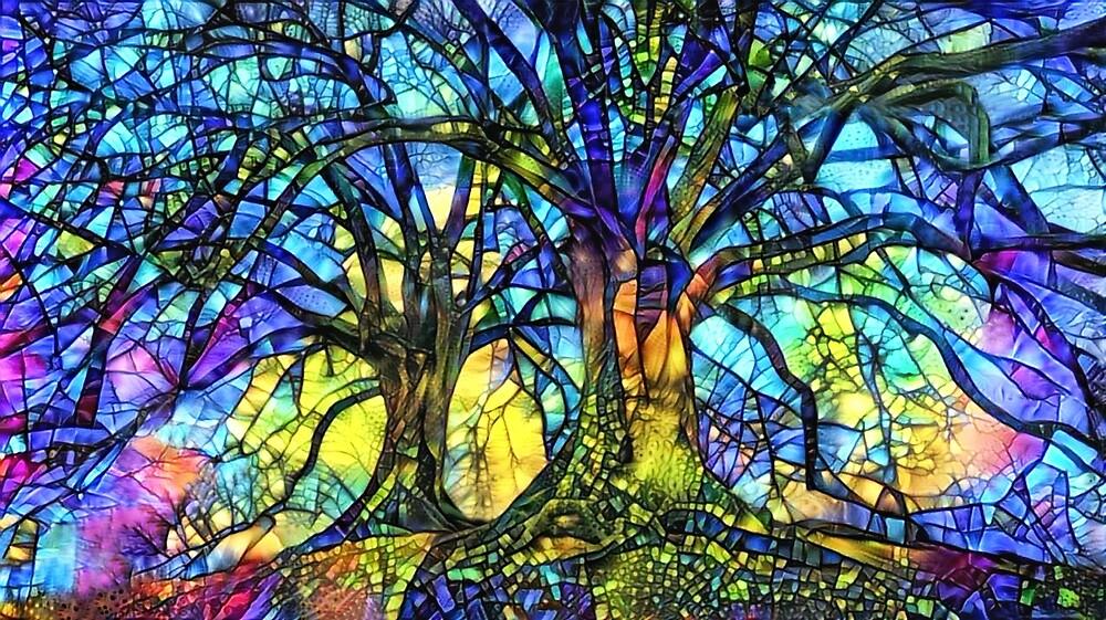 Buntglasbäume von Peggy Collins
