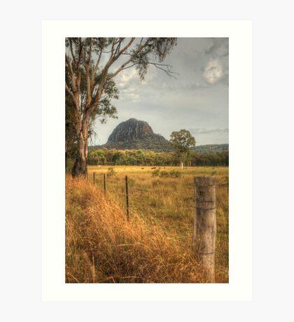 Timor Rock in the Warrumbungles Art Print