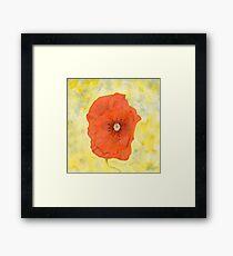 Watercolour Flower Painting Framed Print