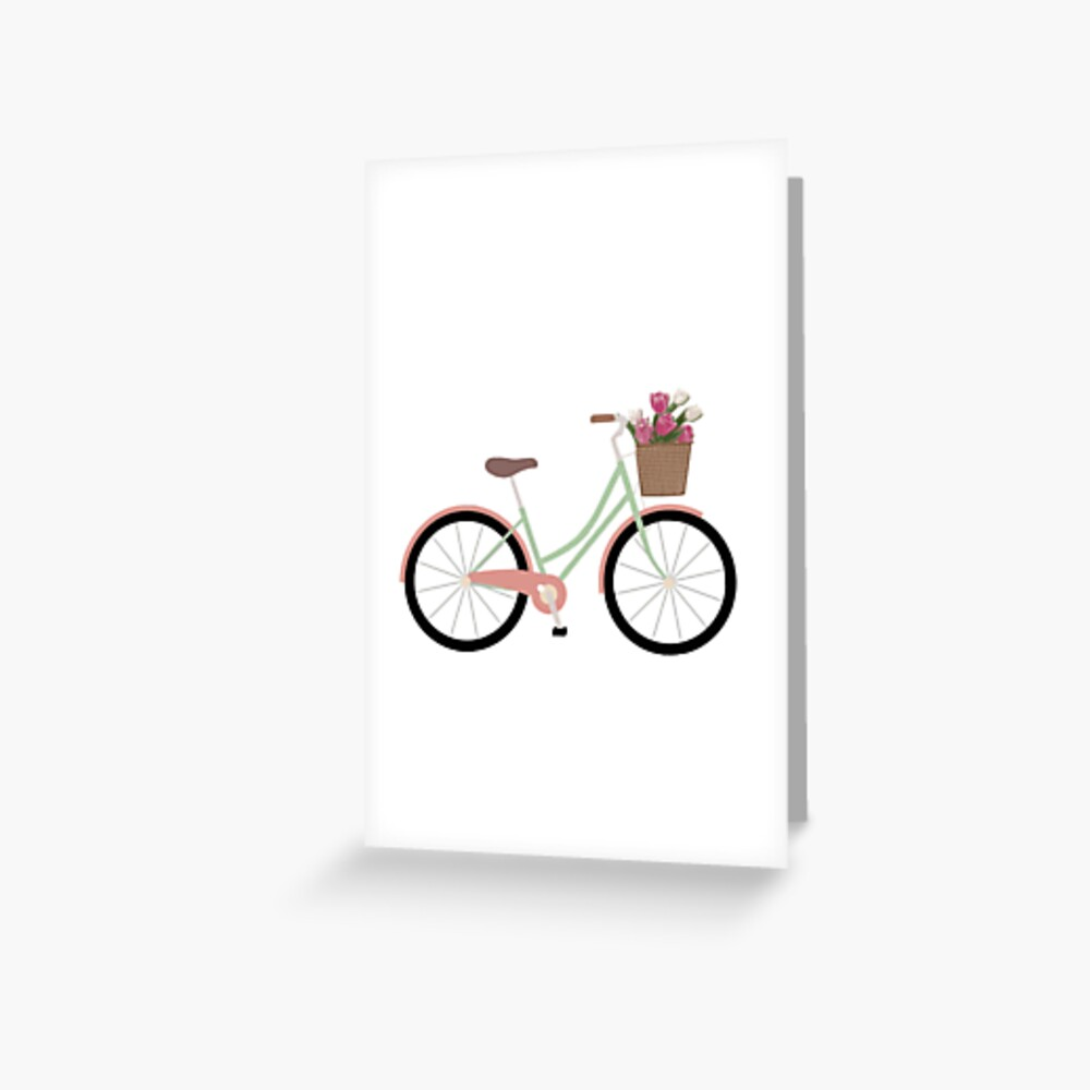 Bicycle Illustration Greeting Card