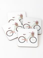 Bicycle Illustration Coasters