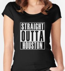 Straight Outta Houston Women's Fitted Scoop T-Shirt