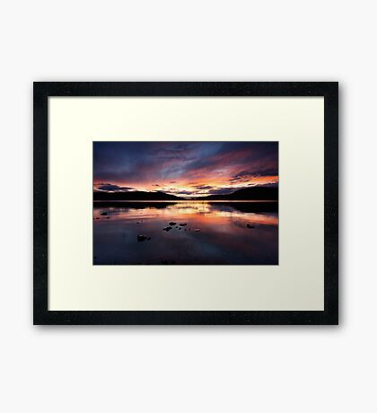 Loch Ness Sunset Framed Print