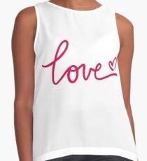 Love Calligraphy Sleeveless Top