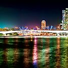 Brisbane River Lights by Aaron Holloway