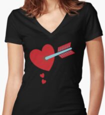 ARROW through the HEART Women's Fitted V-Neck T-Shirt