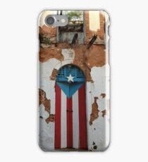 Old San Juan door iPhone Case/Skin