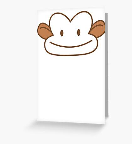 Cute smiley monkey Greeting Card