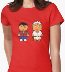 Marti and Doc Brown Womens Fitted T-Shirt