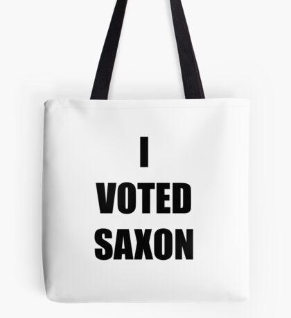 I VOTED SAXON Tote Bag