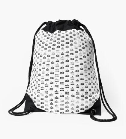 I VOTED SAXON Drawstring Bag