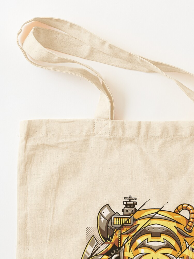 Alternate view of Digitalized Tiger Tote Bag
