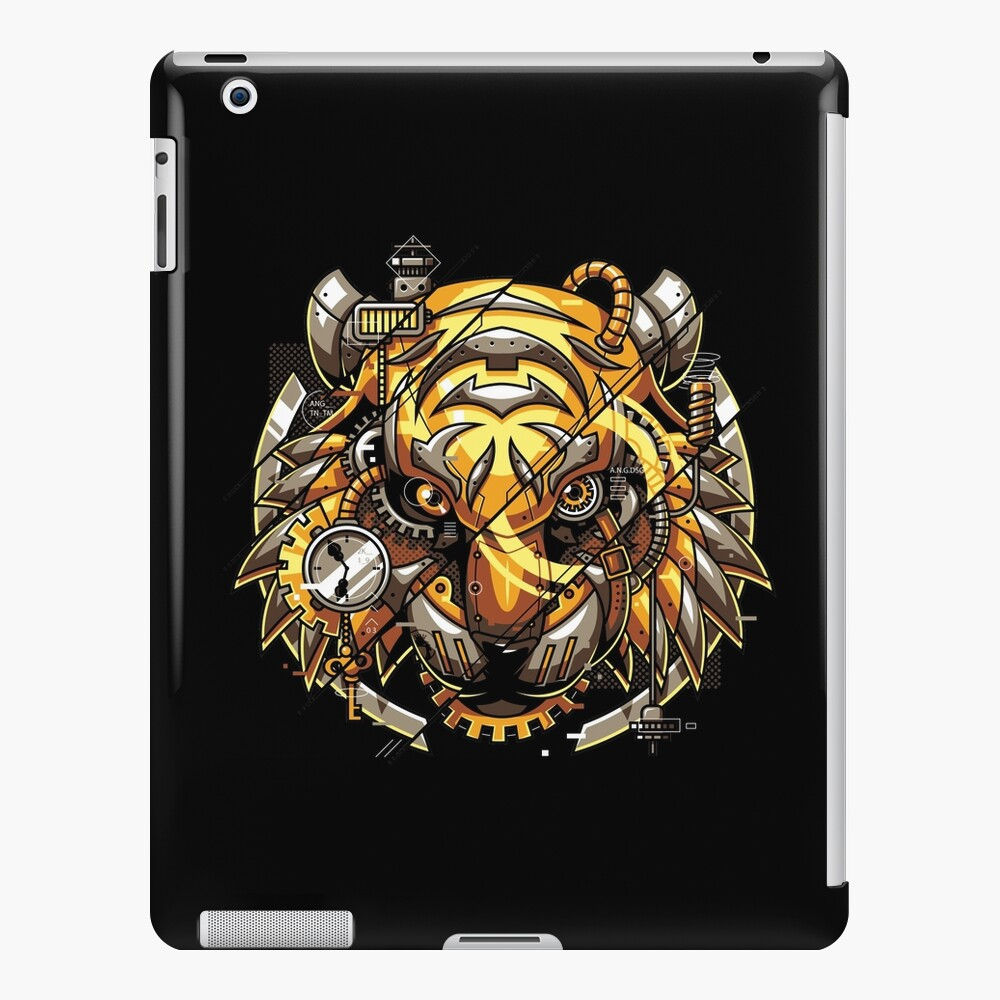 Digitalisierter Tiger iPad-Hülle & Skin