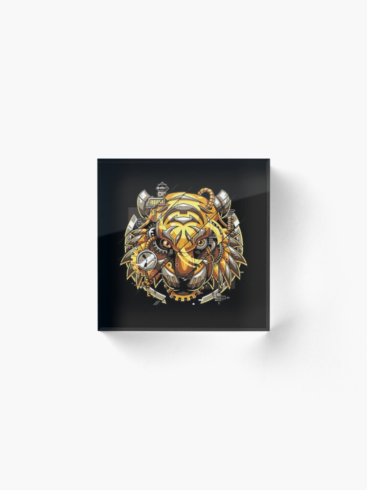 Alternate view of Digitalized Tiger Acrylic Block