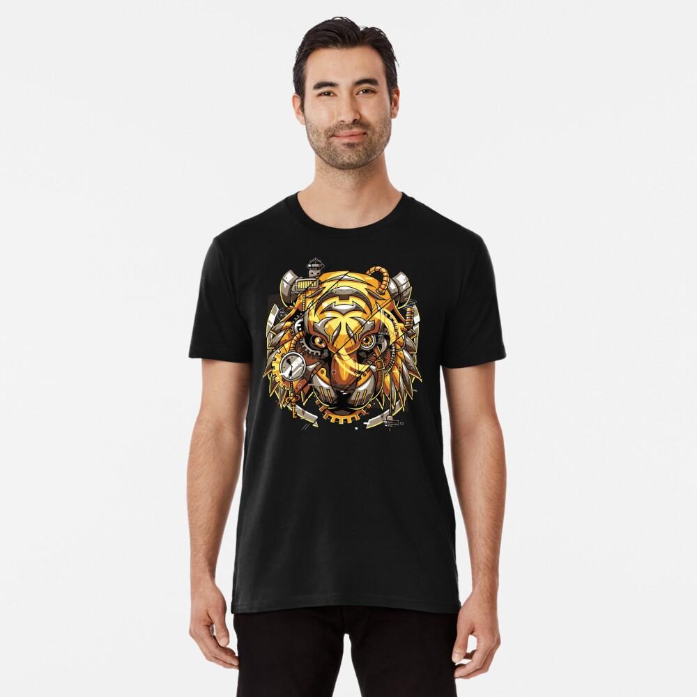 Digitalized Tiger Premium T-Shirt