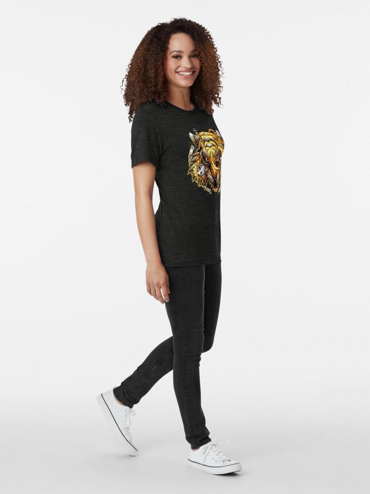 Alternate view of Digitalized Tiger Tri-blend T-Shirt