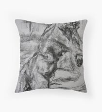 woman on a chair  Throw Pillow