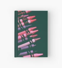 pinks and purples - crayons Hardcover Journal