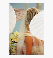 Bride among the parasols Photographic Print