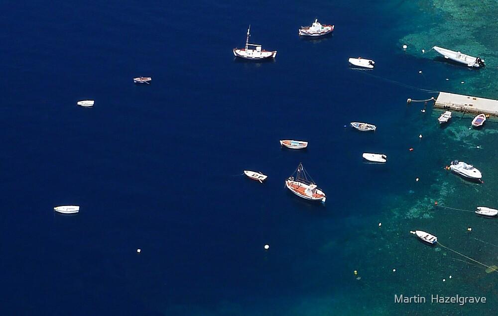 Ioa harbour Santorini by Martin  Hazelgrave