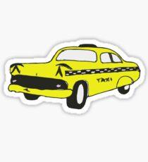 Cute Yellow Cab Sticker