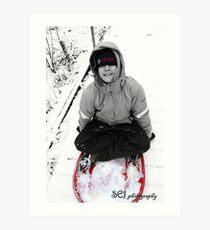 sledding  Art Print