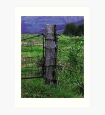 Wooden fence post Art Print