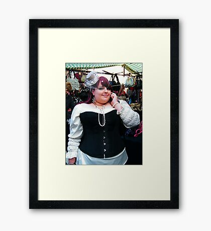 The Goth Weekend at Whitby, Oct 2010. 23 Framed Print