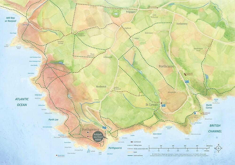Where was Poldark filmed? by clearmappingco