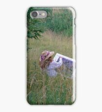 A Lady Artist Sketching iPhone Case/Skin