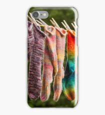 Nova Scotia Hand Knitted Socks iPhone Case/Skin