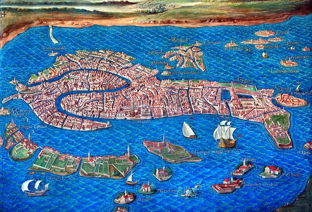 """""""Old map of Venice"""" by Hercules Milas 