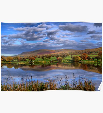 Pendle Hill And Trout Lake Poster