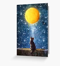 A Yarn of Moon Greeting Card