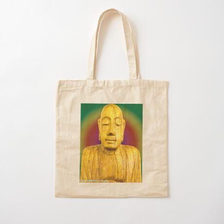 Wooden Budha  Cotton Tote Bag
