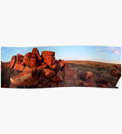 Rock formation Karratha W.A panorama Poster