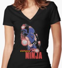 Shadow Ninja Women's Fitted V-Neck T-Shirt