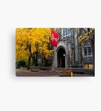 Fall colors,Temple university, Philadelphia Canvas Print
