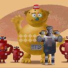Bear with robots by Wilfried van Dokkumburg