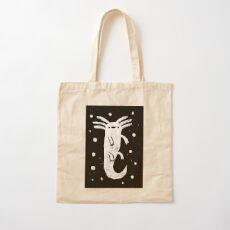 Axolotl Print Cotton Tote Bag