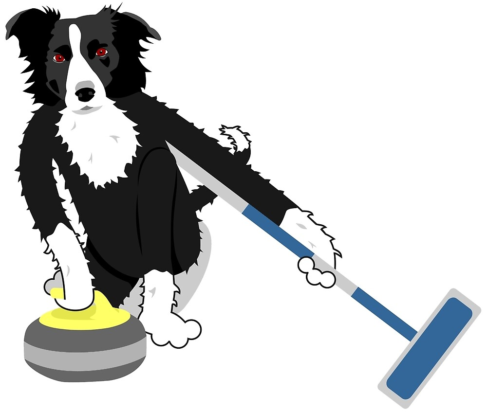 Border Collie Curling by pounddesigns