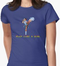 Play Like A Girl (Chun-Li) Womens Fitted T-Shirt