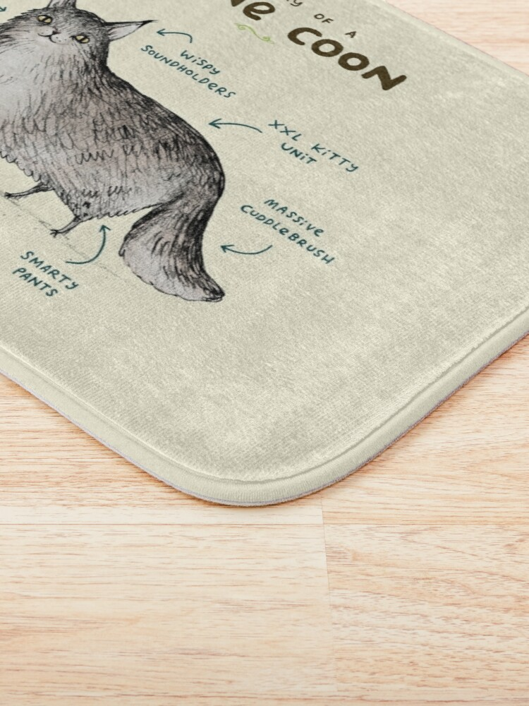 Alternate view of Anatomy of a Maine Coon Bath Mat